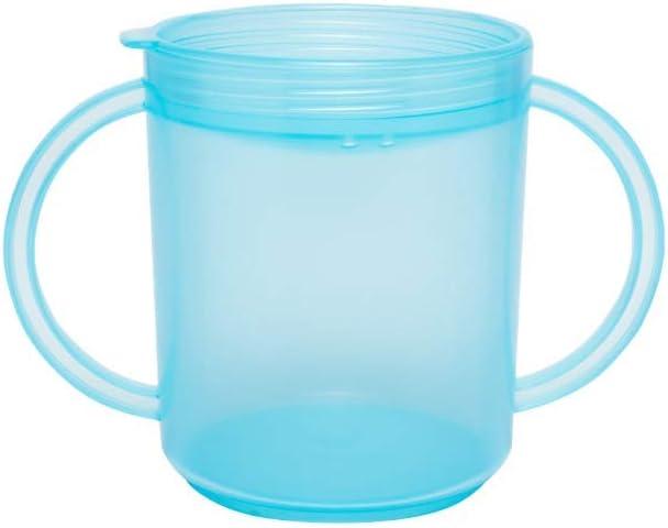TalkTools Recessed Lid Cup with Handles - 2 Lids - Light Blue