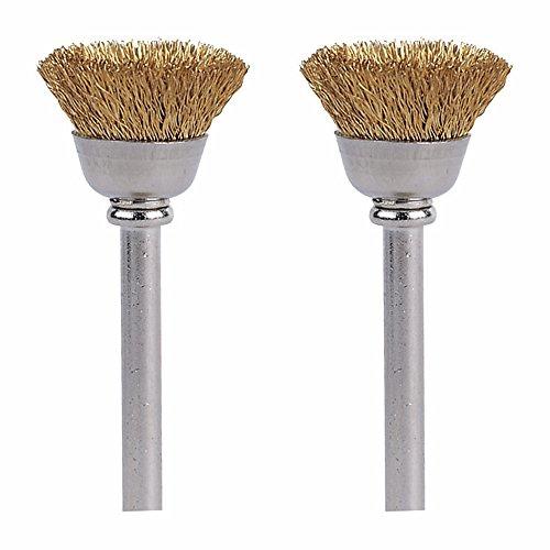 Dremel 536-02 Brass Brushes (2 Pack), 1/2'