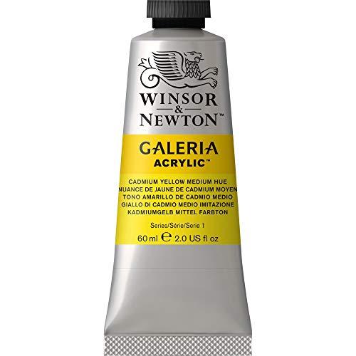 Winsor & Newton 2120120 Galeria Acrylfarbe, hohe Pigmentierung, lichtecht, buttrige Konsistenz, 60 ml Tube - Kadmiumgelb Mittel