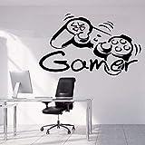 Pegatinas de pared creativas para jugadores, juego para niños, dormitorio, sala de juegos, decoración del hogar, pegatinas de vinilo para pared, arte mural creativo