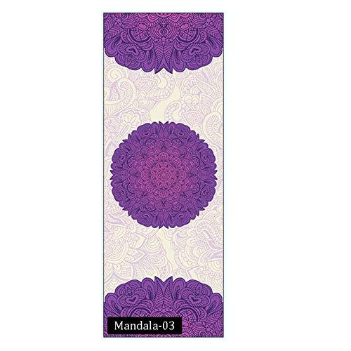 N / A 183 * 68CM Mandola Bedruckte Matte Yoga Handtuch Wildleder Silica Gel Antiskid tragbare Reise Yoga Matte Abdeckung Pilates Workout Fitness Decke 183x68CM