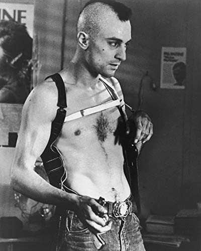 Erthstore 16x20 inch Fine Art Poster of Robert De NIRO Bare Chested with Mohawk Haircut Taxi Driver