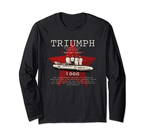 Jahrgang 1966 Triumph Motorrad Geschwindigkeitsrekord Langarmshirt