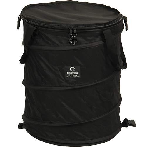 [クイックキャンプ] アウトドア キャンプ トラッシュボックス ブラック ポップアップ ゴミ箱 45L コンパク...