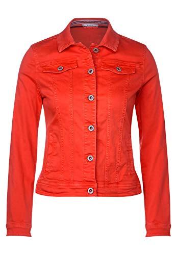 Cecil Damen TOS Color Denim Jacket Jeansjacke, Orange(tangerine orange)XL