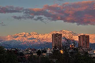 sunset santiago chile