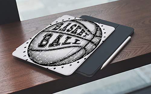 MEMETARO Funda para iPad (9,7 Pulgadas 2018/2017 Modelo), Baloncesto Callejero Pelota de Cuero Inscripción Deportes Recreación Salto Neto Acci Smart Leather Stand Cover with Auto Wake/Sleep