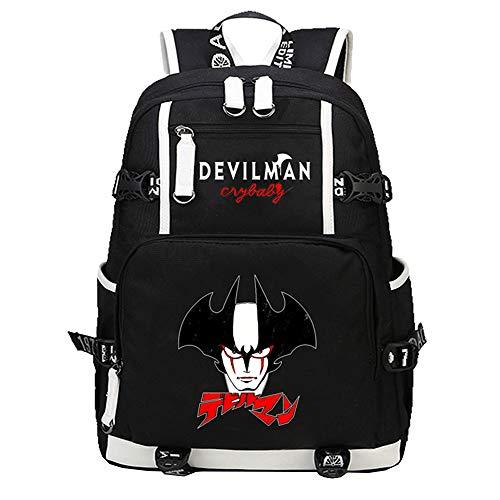 Unisex DEVILAMN Crybaby Rucksäcke Rucksack Multifunktions Daypack Simple Style Schultasche Student Reisetasche (Color : A09, Size : 30 X 14 X 46cm)