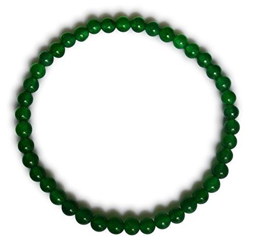 Vifaleno Jade Pulsera, Jade Malasia, Natural, Verde, esférico, 4mm