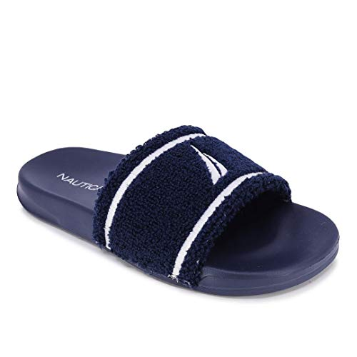 Nautica Women's Athletic Slides, Sandals, Shower Shoe, Fashion Slide-Kezia-Navy-10