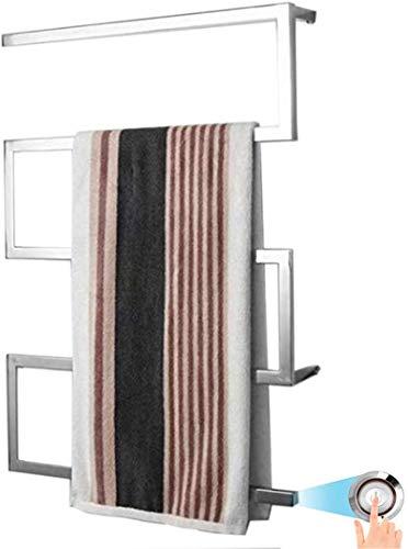 Calentador de pared de baño Calentador de toallas, toallero climatizado eléctrico, perchero eléctrico de secado con calefacción eléctrica 304 Calentador de toalla de acero inoxidable para baño Home Ho