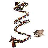 Cuerda de escalada de hurón para jaula, juguetes colgantes de cuerda de pájaro, cuerda de escalada para hurón, ratón, loro, chinchilla, rata, gerbil y enano Hamste