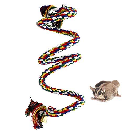 Oncpcare Kletterseil für Frettchen, Käfig, Vogelseil, hängende Spielzeuge, Reptilien-Kletterseil für Frettchen, Maus, Papagei, Chinchilla, Ratten, Rennmaus und Zwerghamste, Medium