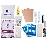 Duevin Kit de microblading para cejas Kit Profesional de Práctica Tatuaje Ceja Microblading Set Manual Ceja Pluma Pigmento Tinta Práctica de la Piel Herramienta lápiz de tatuaje maquillaje (A)