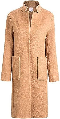 Xuanku sont Pure Laine en Vrac dans Le Manteau à Manches Longues Femme Col