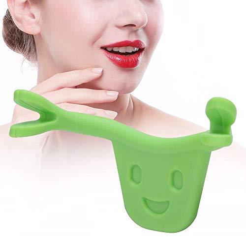 Smile Face Trainer, Gesicht Schönheit Muskeltrainer Verbessern Sie den Mund Facelifting Smile Corrector für Muskeln Stretching Exercise Lips Radian Correction(Grün)