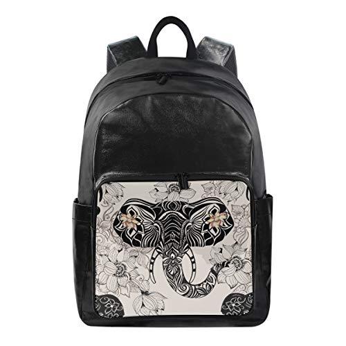 Sac à dos ALARGE Vintage Floral Tribal Animal Éléphant Multi Fonction Business Bag School College Toile Book Bag Voyage Randonnée Camping Sac à dos Daypack