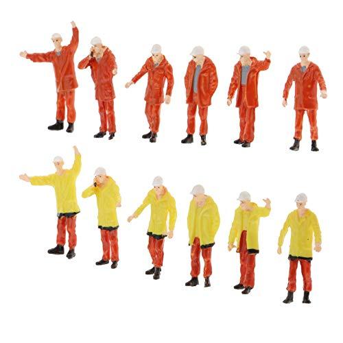 SM SunniMix 12 Pezzi in Plastica 1:50 Minuscole Figure Set Passeggeri Decorazione Layout Parcheggio