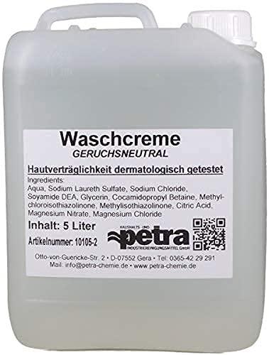 Cremeseife 2x5 Liter Kanister (parfümfrei, farblos) - Qualität aus Thüringen (Artikelnummer 10105-2, Flüssigseife ohne Farb- und Parfümzusätze)