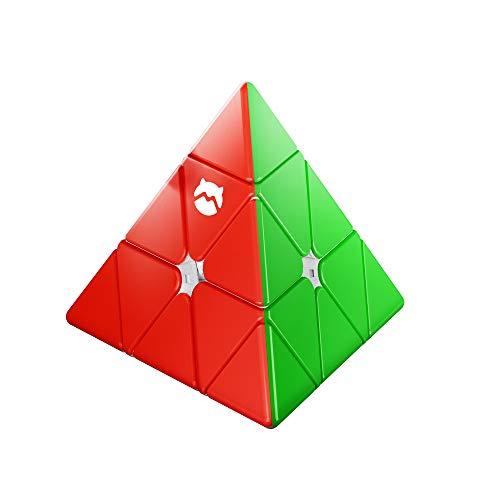 Monster Go Pyraminx Cubo, MG Cubo Velocità Piramide Giocattolo Puzzle Stickerless Triangolo Cubo