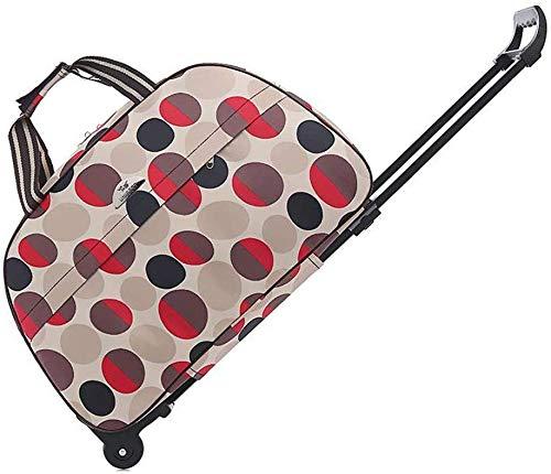 Ser aplicable impermeable bolso de la carretilla de la maleta del bolso bolsa de almacenamiento de gran capacidad Silencio Rueda - Oxford tela impermeable unisex Junta Can (Color: A Tamaño: 65L) (Colo