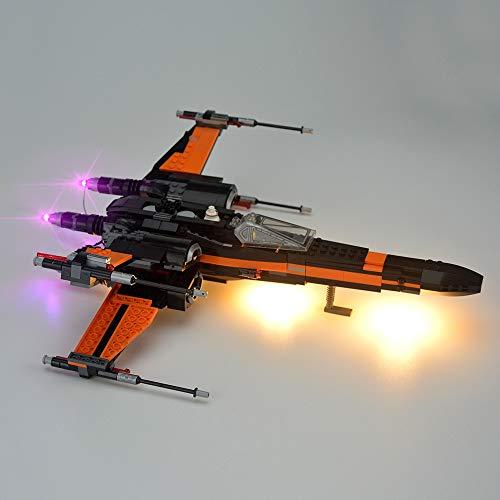 IAMXXYO Kit De Iluminación LED para (Star Wars Poe's X-Wing Fighter) Compatible con Ladrillos De Construcción Lego Creator Modelo 75102,(Juego De Legos No Incluido)