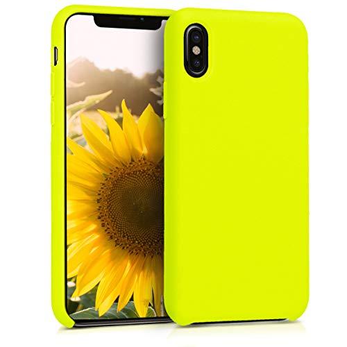 kwmobile Apple iPhone X Hülle - Handyhülle für Apple iPhone X - Handy Case in Zitronengelb