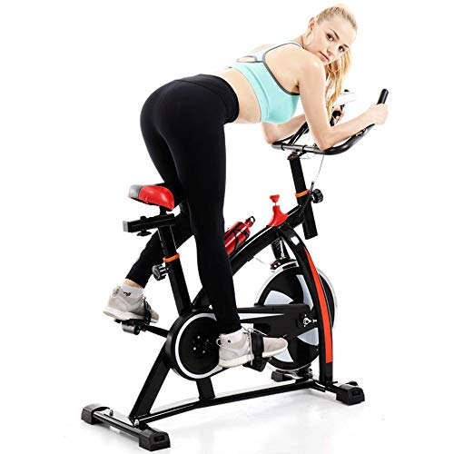 Indoor Cycling Bike Stationary- Women & Men Ultra-quiet Fitness Bicycle with Comfortable Seat Cushion, Drink Bottle Holder & LED Monitor - Exercise Bike for Home Cardio Workout, Gym Endurance Training