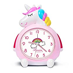 KOROTUS COLLECTION Unicorn Alarm Clock for Kids Wake Up Night with Loud Music Alarm, Ideal for Kids Party Supplies Bedroom Decoration