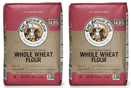 King Arthur, Whole Wheat Flour, 80oz Bag (Pack of 2)