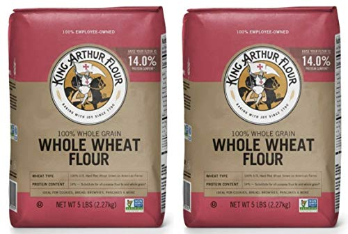 King Arthur, Whole Wheat Flour, 80oz Bag (Pack of 2)