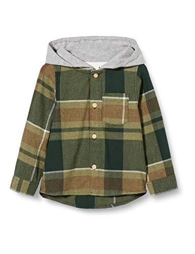 NAME IT Jungen NMMLION LS Shirt W. Hood Kapuzenjacke, Thyme, 98