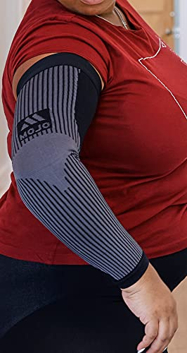 Mojo Compression Socks - 5XL Plus Size Lymphedema Medical Compression Arm Sleeve For Women & Men, 20-30 mmHg - Black, XXXXX-Large