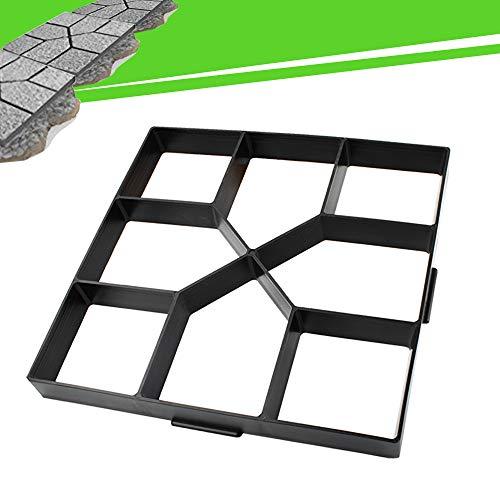 15.7'x15.7'x1.57' Walk Maker Reusable Concrete Path Maker Molds Stepping Stone Paver Yard Patio Lawn Garden DIY Walkway Pavement Paving Moulds (Cross Square)