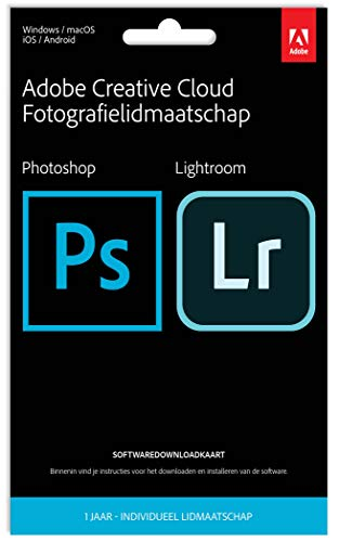 Adobe LIVE-Card Creative Cloud Photography Plan, 1 Jahr, niederländisch|Standard|1 Device|1 Year|PC/MAC|Download|Download