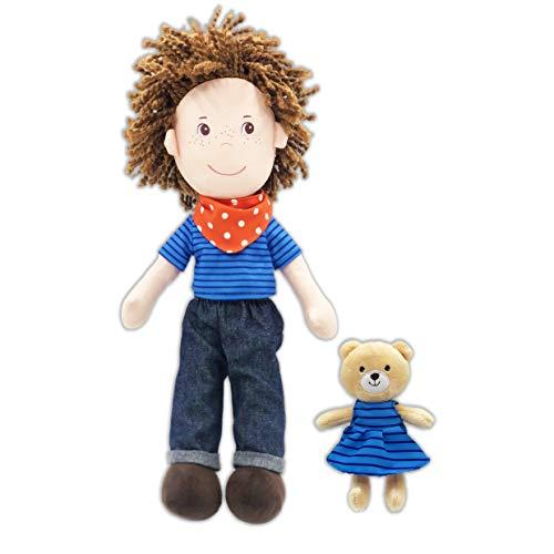 June Garden 14' Playmate Buddies - Plush Doll Matthew with His Stuffed Animal Companion Bear Browny