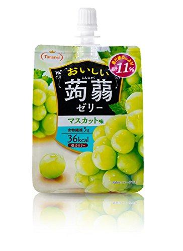 たらみ おいしい蒟蒻ゼリー マスカット味 150g 【30個セット】