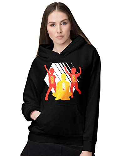 BLAK TEE Femme Daddy Low Battery with His Sons Full Battery Illustration Sweat a Capuche XXL