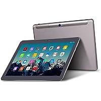 Tablet 10 Pulgadas 4G LTE Dual Sim - TOSCIDO Android 9.0 Certificado por Google GMS, Quad Core,64GM ROM,4GB RAM,Doble Altavoz Estéreo,WiFi/Bluetooth/GPS/OTG - Negro