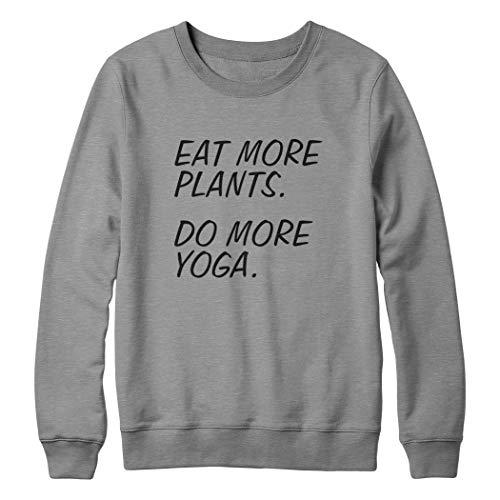OneWhiteFox Eat More Plants Do More Yoga Unisex sweatshirt voor dames en heren