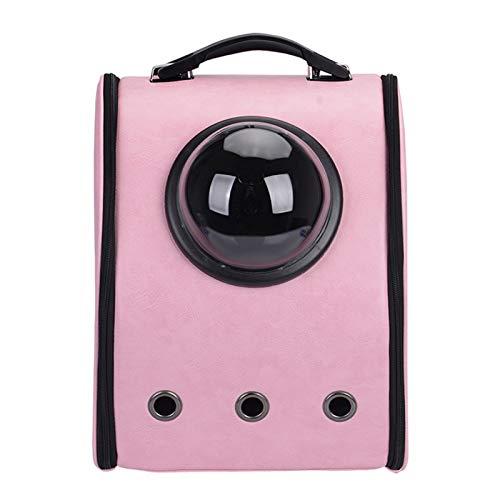 FHDFH Mochila portátil de Viaje para Mascotas, diseño de Burbujas de cápsula Espacial, Mochila Impermeable para Gatos y Perros pequeños, Mochila para Mascotas aprobada por la aerolínea,Rosado