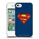 Head Case Designs Officiel Superman DC Comics Bouleversé Logos Coque en Gel Doux Compatible avec iPhone 4 / iPhone 4S