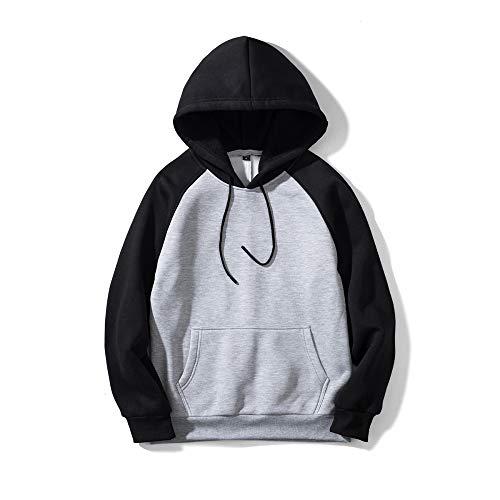 Herren Pullover Hoodie Sweatshirt Loose Print Sweater Langarm Hoodie Gr. Small,...