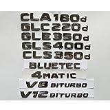 Emblemas cromados para Mercedes Benz CLA180d CLS350d GLA220d GLC220d GLC250d GLE350d GLE250d GLS350d AMG 4MATIC CDI BLUETEC (GLA 220d, cromo?)
