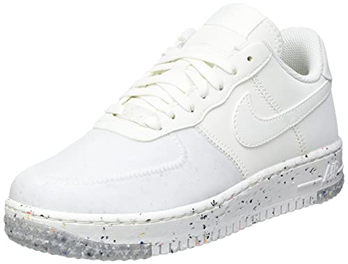 Nike Air Force 1 Crater, Zapatillas de básquetbol Mujer, Summit White/Summit White-Summit White, 39 EU