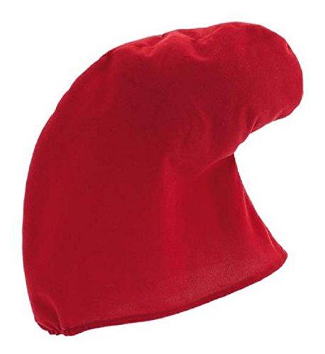 La Rigolade - Gorro acolchado de gran estrangulamiento, color rojo