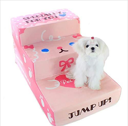 MYMAO 01Huisdier trap kleine schattige hond trap kleine puppies zachte drie lagen mat poeder cartoon ladder