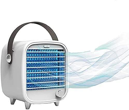 Aire acondicionado portátil 2021 Refrigerador de aire portátil auxiliares, caja de hielo incorporada, viento fuerte, luz nocturna, agua recargable USB Aire acondicionado refrigerado por agua para ofic