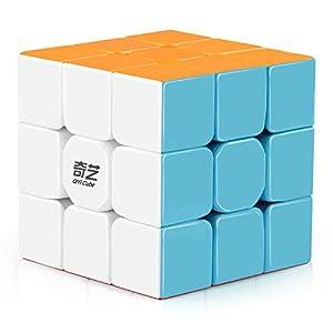 D-FantiX Qiyi Warrior W 3x3 Speed Cube Stickerless 3x3x3 Magic Cube Puzzles by D-fantix