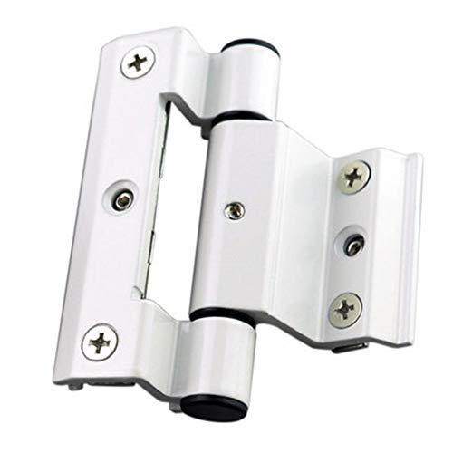 ZZYUBB 50 Typ Gebrochen Brücke Aluminiumlegierung Fensterscharnier Isolierung Gebrochen Brücke Fensterscharnier Seite (Color : White)